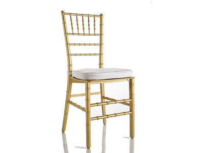 Gold Tiffany Chair (with White Cushion)